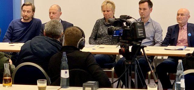Pressekonferenz am 26.1.2019 zum Wahlprogramm und zur Aufstellung der Kandidaten in den Wahlbereichen